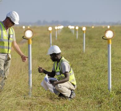 Balisage lumineux de l'Aéroport de MAPUTO au Mozambique